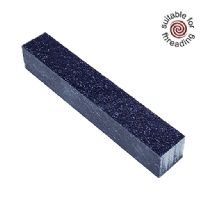 Kirinite Black & Blue Stardust Glitter pen blank
